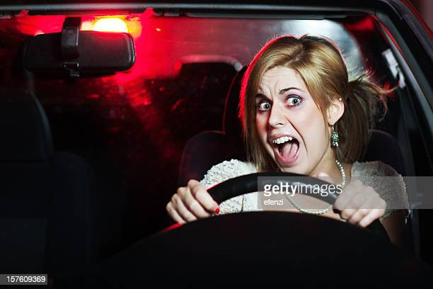 Woman Scared in a Car