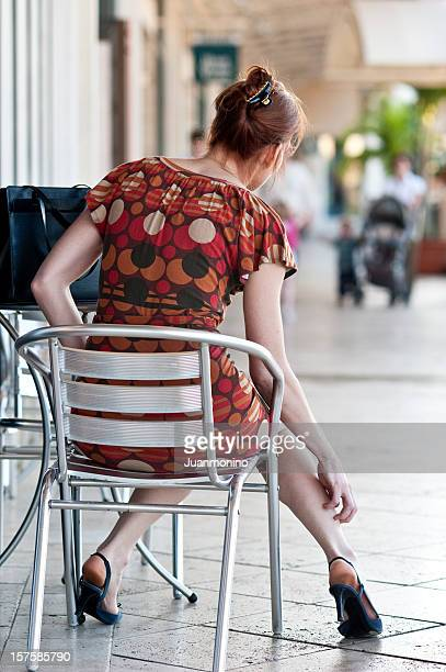 Frau sich die Bein