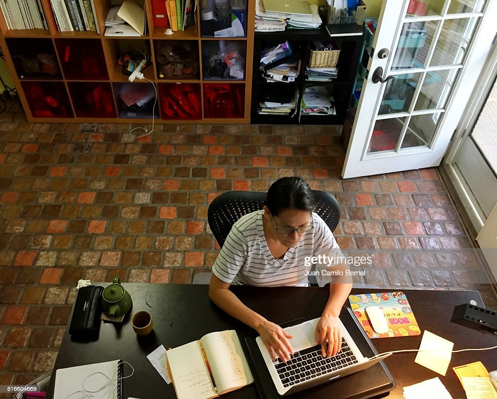 Working From Home : News Photo