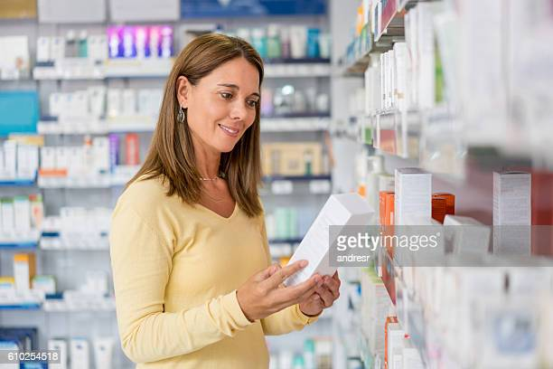 Woman shopping at a drugstore