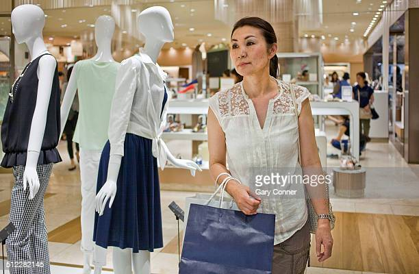 Woman shopping at department store