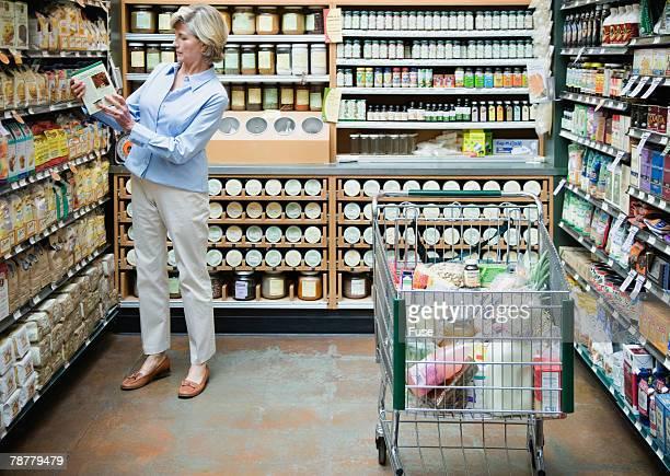 Woman Shopping at Health Food Store