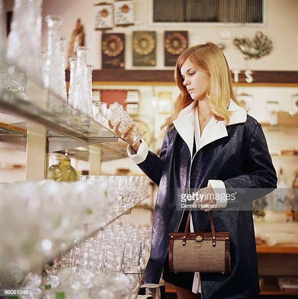 Woman shopping for housewares