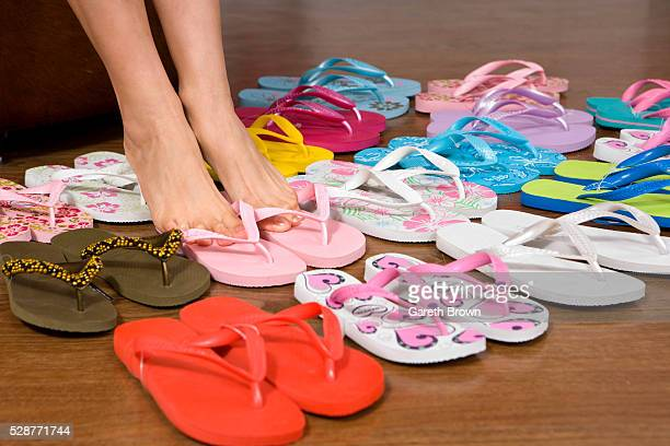 Woman Shopping for Thongs