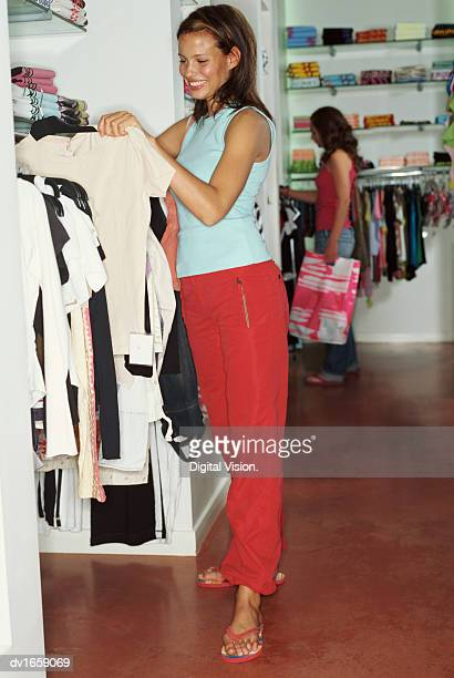Woman Shopping in a Clothes Shop