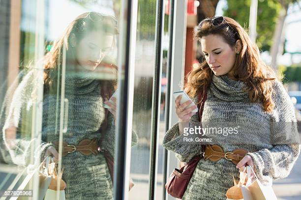 Woman shopping in Beverly Hills, California, USA