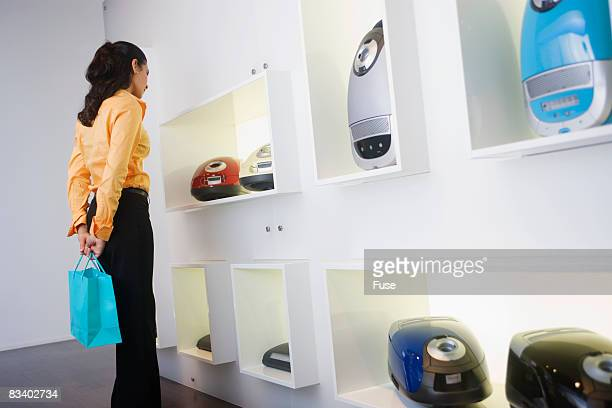 Woman Shopping in Computer Store