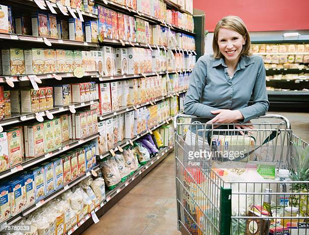 Woman Shopping in Health Food Store