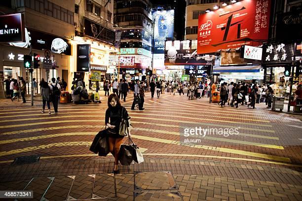 Woman shopping in Hong Kong
