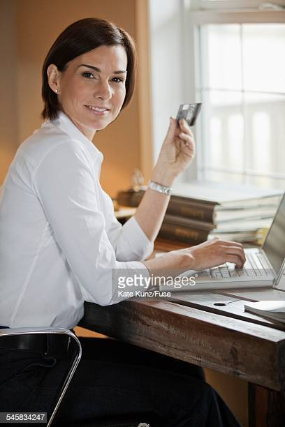 Woman shopping on internet