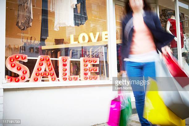 woman shopping - sale stock photos and pictures