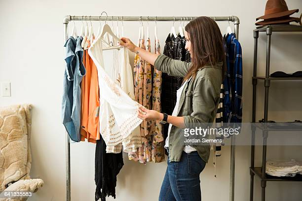 a woman shopping. - clothing stock pictures, royalty-free photos & images
