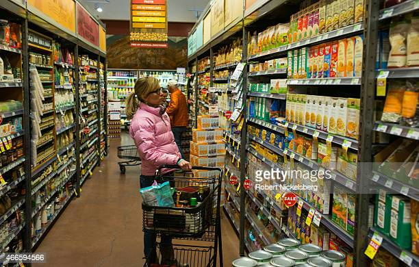 A woman shops at the Whole Foods store March 5 2015 in Basalt Colorado