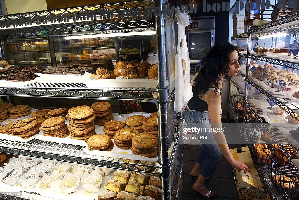 A woman shops for pastries and cookies at a Au Bon Pain store July 01, 2008 in New York City. New York City's plan to eliminate foods containing trans fats went into the final stage today. Started a year ago, the trans-fat ban began in restaurants and applied only to spreads and frying oils. Beginning on Tuesday the ban extends to items such as baked goods, frozen foods, and doughnuts.