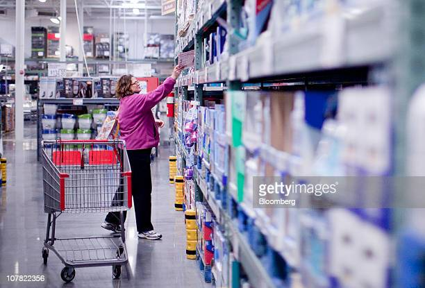 A woman shops inside a BJ's Wholesale Club store in Falls Church Virginia US on Thursday Dec 30 2010 BJ's Wholesale Club Inc rose 71 percent in New...