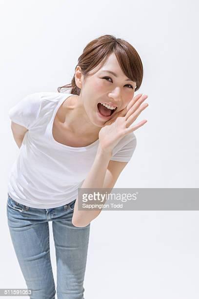Woman Shouting Loudly