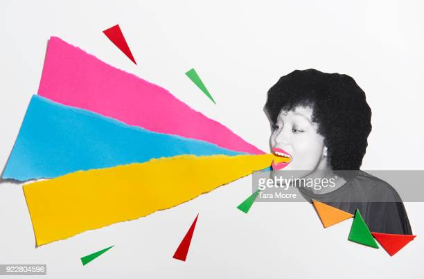 woman shouting with copy space - styles stock pictures, royalty-free photos & images