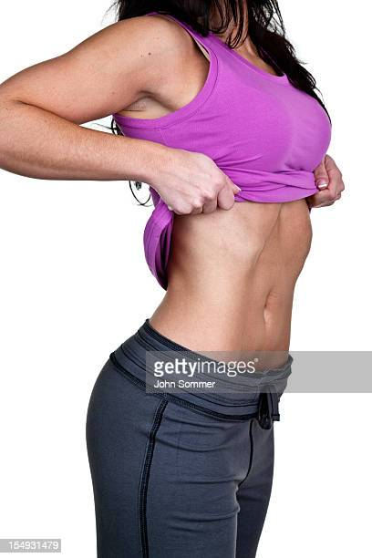 Woman showing her perfect waist