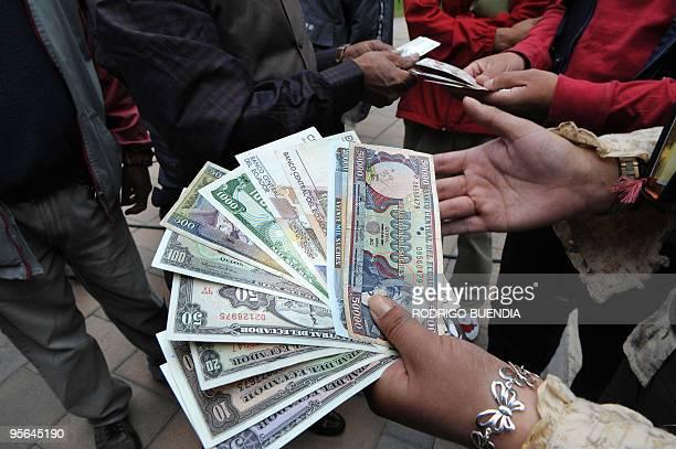 Ecuador Sucre Us Dollar Stock Pictures