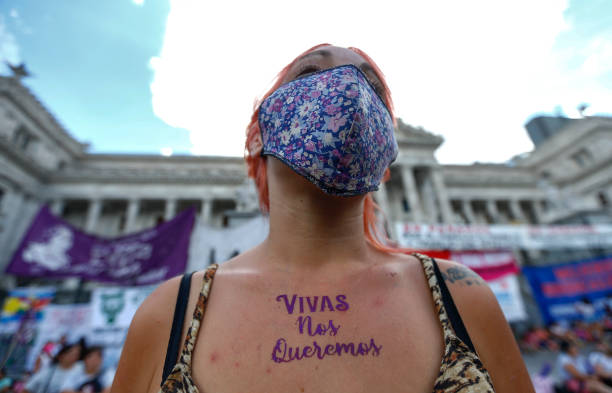 ARG: Women Protest in Buenos Aires on International Women's Day