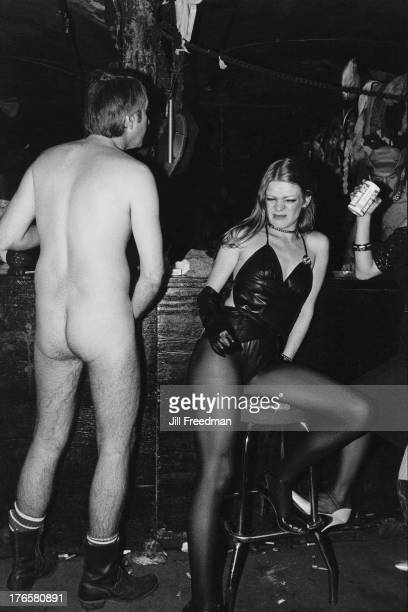 A woman shows her displeasure at the 'Hellfire Club' a Sadomasochism club night in the pregentrified Meatpacking District New York City 1981