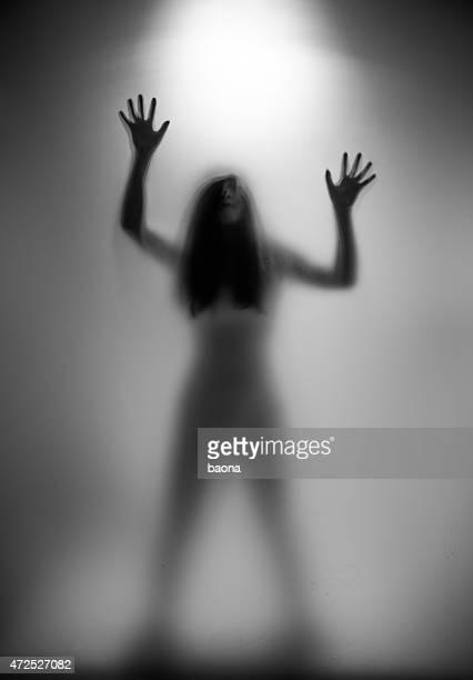 silhueta de mulher - silhueta de corpo feminino preto e branco imagens e fotografias de stock