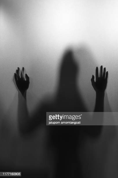 woman silhouette,unidentify shadow of woman within the bath room - violence stock pictures, royalty-free photos & images