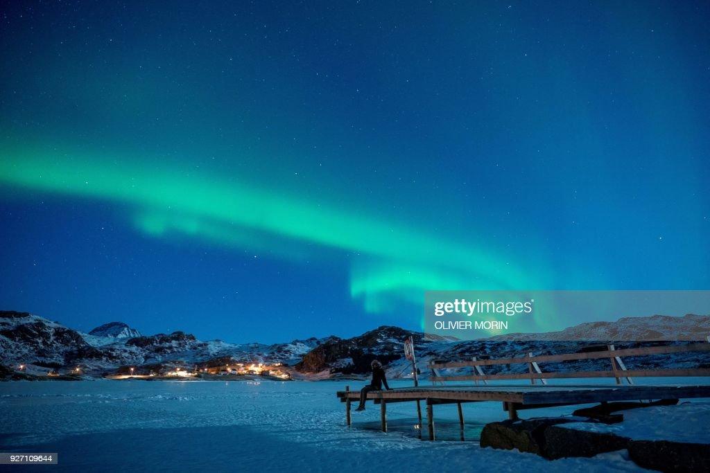 TOPSHOT-NORWAY-NATURE-NORTHERN LIGHTS : News Photo