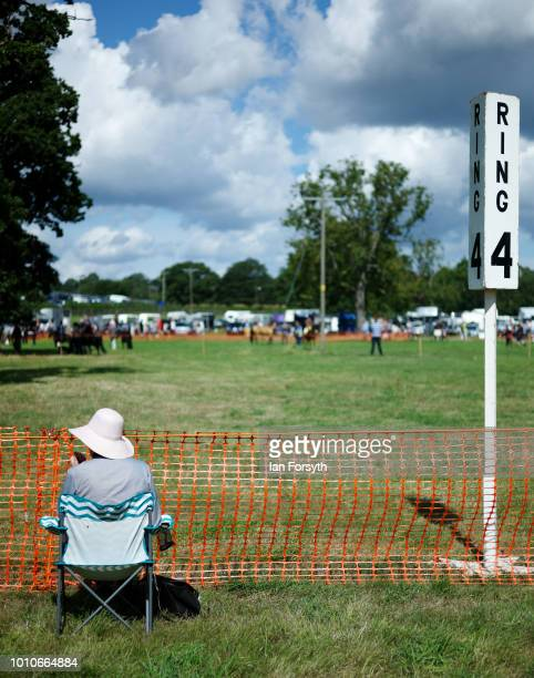 A woman sits ringside during 152nd the Ryedale Country Show on July 31 2018 in Kirbymoorside England Held in Welburn Park near Kirbymoorside in North...