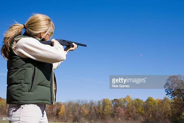 Woman Skeet Shooting