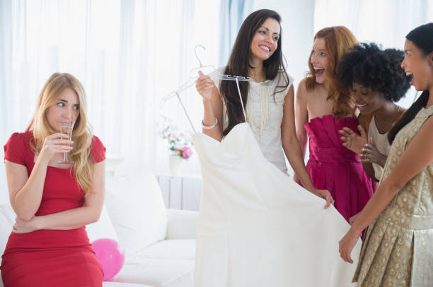 Woman skeptical of friend's new dress