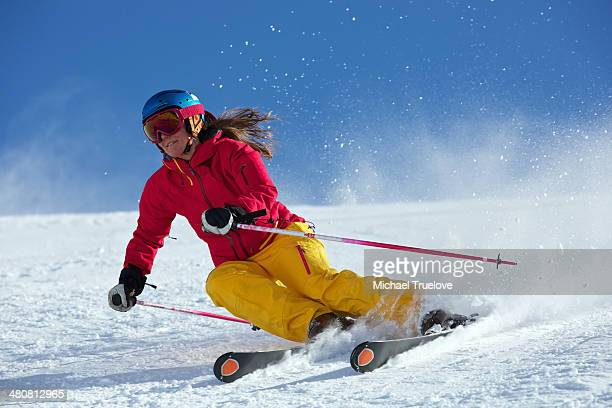 Woman skiing in Kuhtai , Tirol, Austria