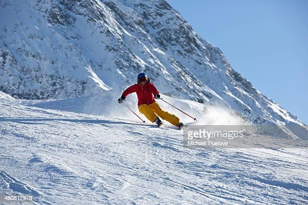 Woman skiing in Kuhtai ,Tirol, Austria