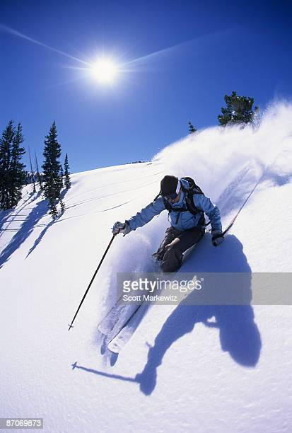 Woman skiing in Utah.