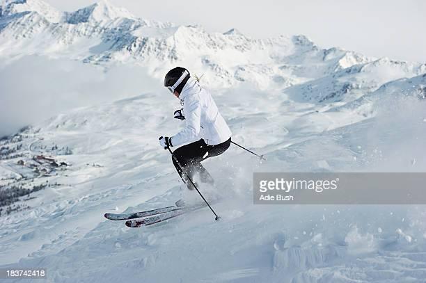 Woman skiing