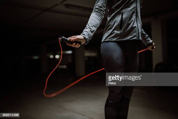 woman skipping - sportswear stock photos and pictures