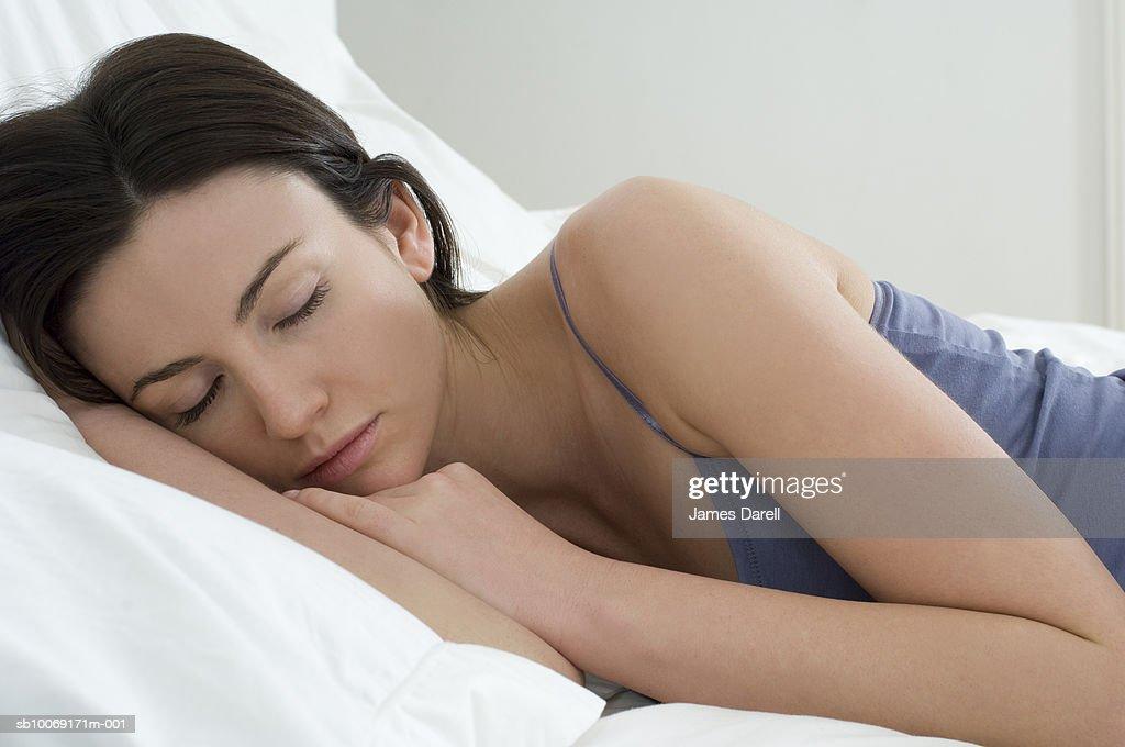 Woman sleeping : Stockfoto