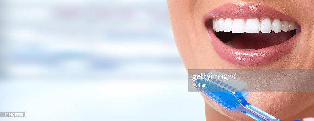 Woman smile. : Stock Photo