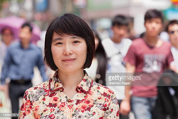 woman smiles portrait in wangfujing - fringe stock pictures, royalty-free photos & images