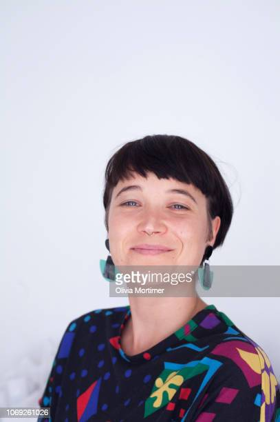 Woman smiling at camera