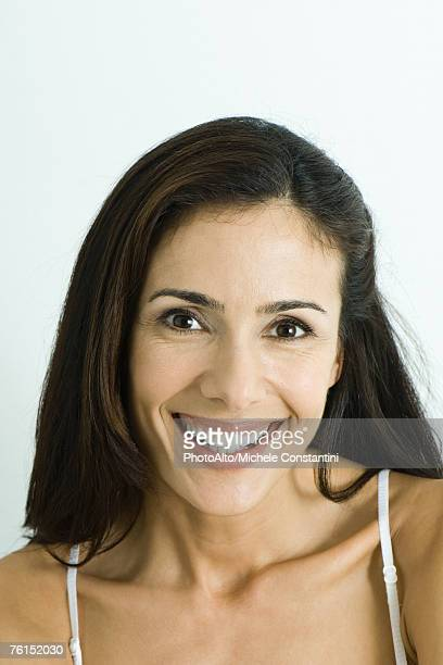 """""""Woman smiling at camera, portrait"""""""