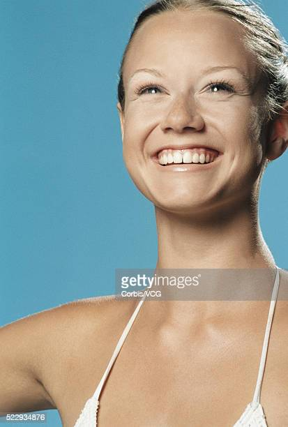 woman smiling - vcg stock pictures, royalty-free photos & images