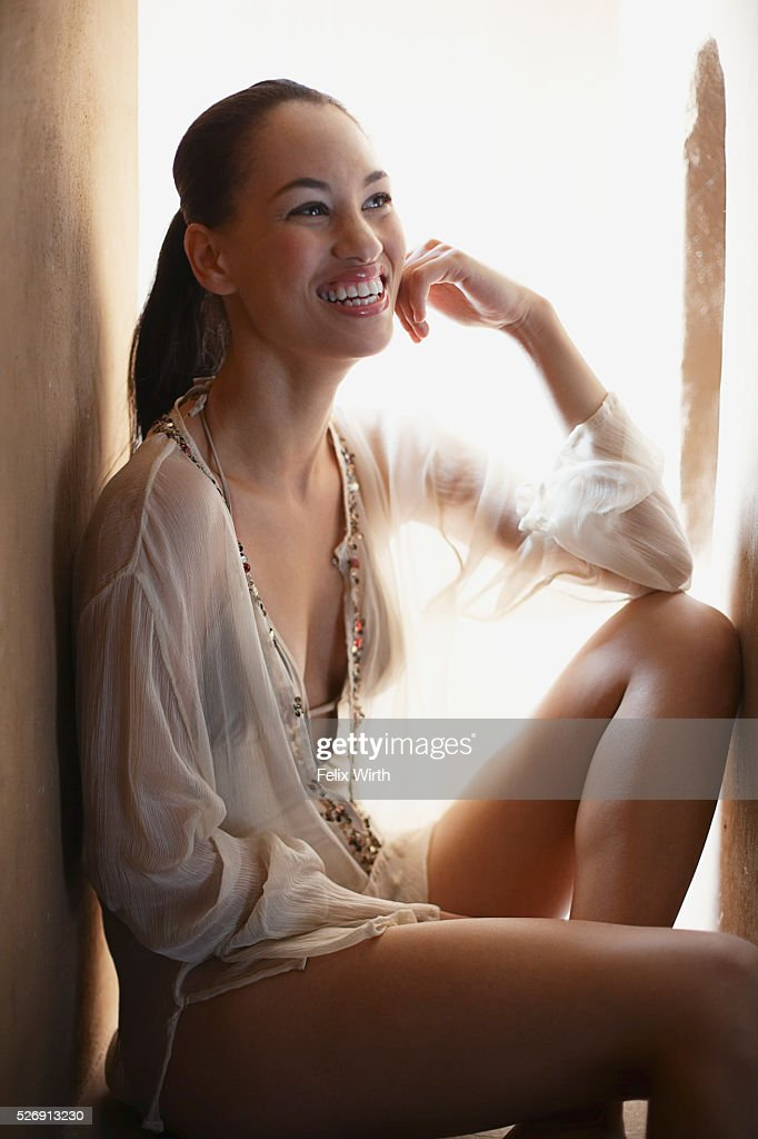 Woman smiling : Stock Photo