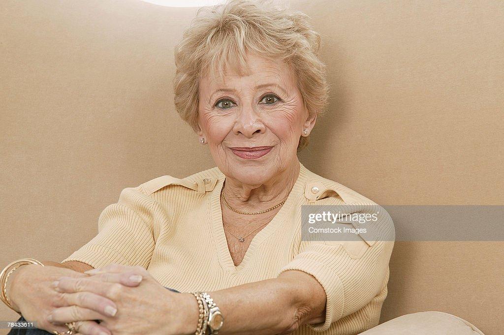 Woman smiling : Stockfoto