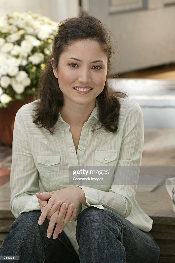 Woman smiling : Stockfoto