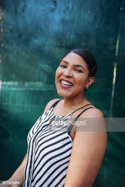 obese woman smiling - afro caribbean ethnicity stock pictures, royalty-free photos & images