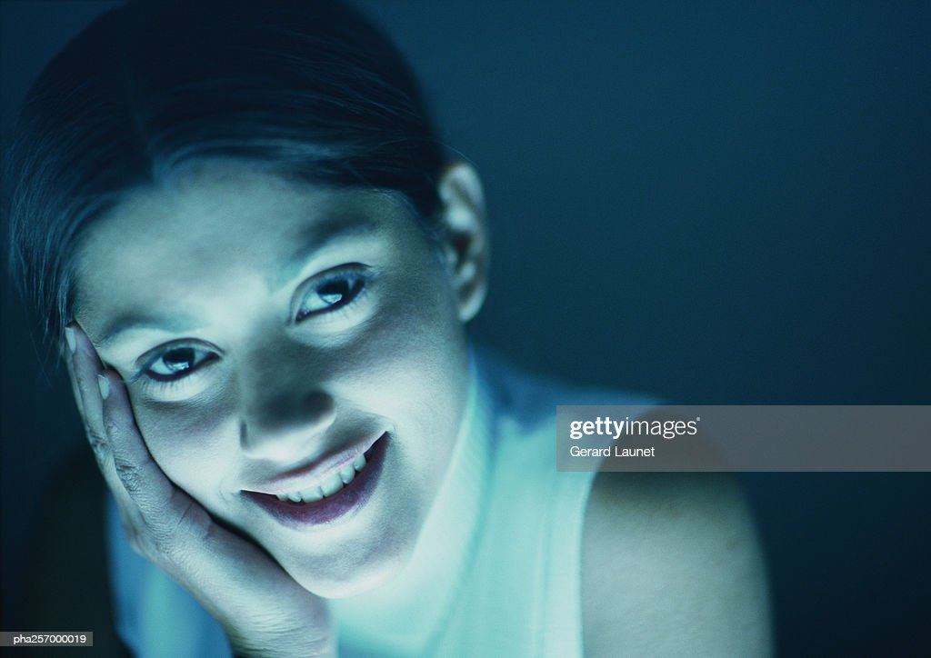 Woman smiling, portrait : Stockfoto