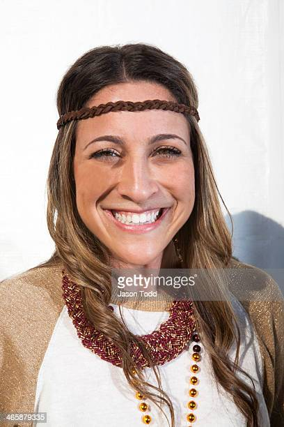 woman smiling with headband on white background - jason todd stock photos and pictures