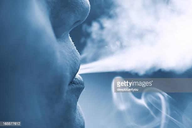 Frau Rauchen Gesicht