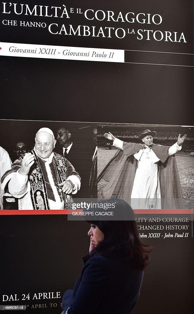 VATICAN-POPE-CANONISATION-EXHIBITION : News Photo